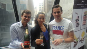 À la vôtre! Reps from Piper-Heidsieck - one of my favorite champagnes. Yummy.