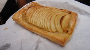 Perfection on a serviette - a superbe tarte aux pommes by Maison Hugo. © WhereNYC