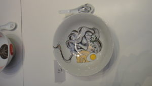 One of the exquiiste ramen bowls on display © Kaori Mahajan for WhereNYC