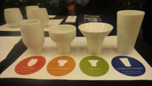 Sake cups at the reception © WhereNYC