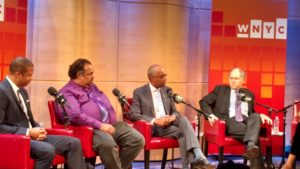 L-R: Darly Davis, Ron Christie and Jonathan Alter at the Greene Space © Tokyo Racer for WhereNYC