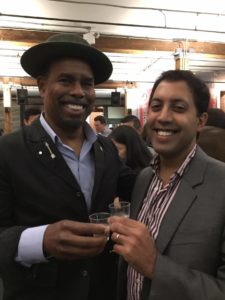 With Garrett Oliver of the Brooklyn Brewery © Kaori Mahajan for WhereNYC