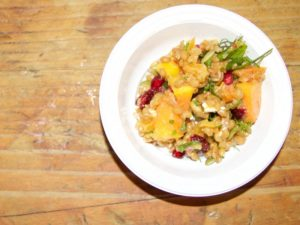 Sterling Smith's Cheese Pumpkin Harvest Salad © Katherine Hernandez, Slow Food USA