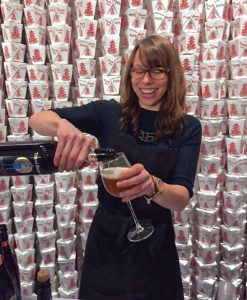 MOFAD served the Belgian style Tripel Burner by Lior Lev Sercarz and the Brooklyn Brewery © Kaori Mahajan for WhereNYC
